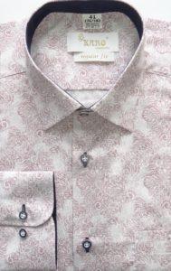 koszula w maziaje bordo