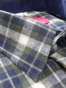 koszula flanelowa oliwkowa
