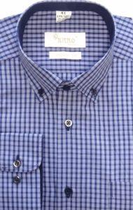 koszula w krate niebieska
